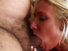 Hot babe Addison Cain takes a jurassic cock in her mouth like a giant noodle