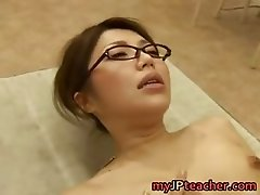 Hot Asian teacher fucks and sucks