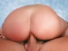 Ann Marie Michelle lays back as huge cock squeazes in her tight hot pussy