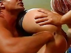 Extreme double fisted and ass fucked gangbang slut