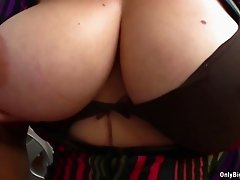 Big Tits Bag Head Sima Blows Cock